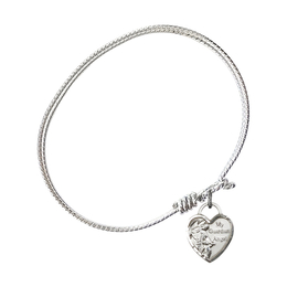 3402 - Guardian Angel Heart Bangle<br>Available in 8 Styles