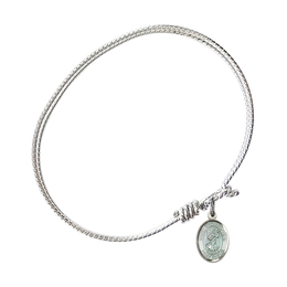 9022E - Saint Christopher Bangle<br>Available in 8 Styles