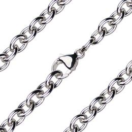 Heavy Open Cable Chain<br>Rhodium/Hamilton Gold<br>C28 - 7.10mm