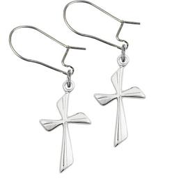 Cross<br>E0016YD - 3/4 x 3/8<br>Earring