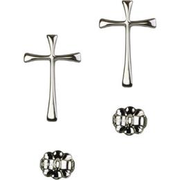 Maltese Cross<br>E1872P - 3/4 x 3/8<br>Earring