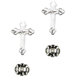Cross<br>E2531P - 5/8 x 3/8<br>Earring
