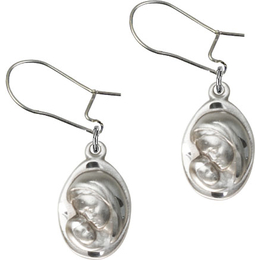 Madonna & Child<br>E5447D - 5/8 x 3/8<br>Earring