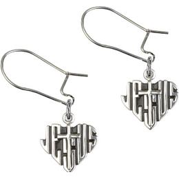 Heart of Jesus / Cross<br>E6041D - 3/8 x 3/8<br>Earring