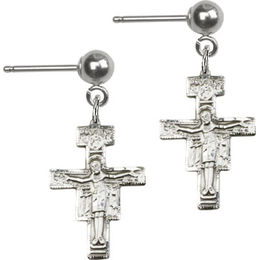 San Damiano Crucifix<br>E6078BP - 5/8 x 3/8<br>Earring