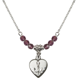 N20 Birthstone Necklace<br>Heart / Confirmation<br>Available in 15 Colors