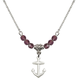 N20 Birthstone Necklace<br>Anchor<br>Available in 15 Colors