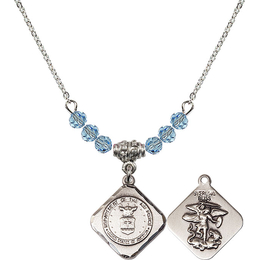 N20 Birthstone Necklace<br>Air Force Diamond<br>Available in 15 Colors