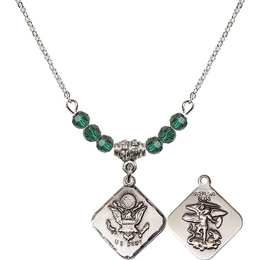 N20 Birthstone Necklace<br>Army Diamond<br>Available in 15 Colors