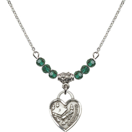 N20 Birthstone Necklace<br>Graduation Heart<br>Available in 15 Colors