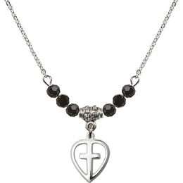 N20 Birthstone Necklace<br>Heart / Cross<br>Available in 15 Colors