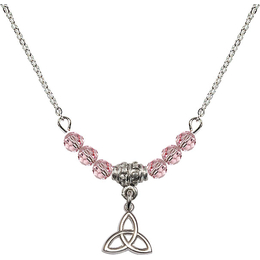 N20 Birthstone Necklace<br>Trinity Irish Knot<br>Available in 15 Colors