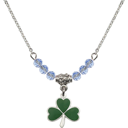 N20 Birthstone Necklace<br>Shamrock<br>Available in 15 Colors