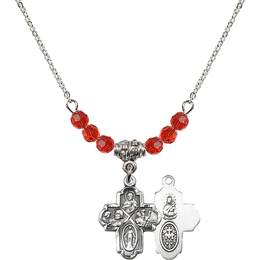 N20 Birthstone Necklace<br>4-Way<br>Available in 15 Colors
