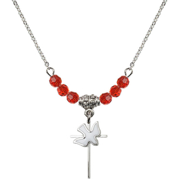 N20 Birthstone Necklace<br>Cross / Holy Spirit<br>Available in 15 Colors