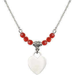 N20 Birthstone Necklace<br>Heart<br>Available in 15 Colors