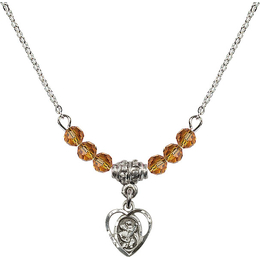 N20 Birthstone Necklace<br>St. Christopher<br>Available in 15 Colors