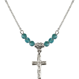 N20 Birthstone Necklace<br>Cross<br>Available in 15 Colors