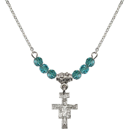 N20 Birthstone Necklace<br>San Damiano Crucifix<br>Available in 15 Colors