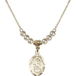 N21 Birthstone Necklace<br>St. Michael the Archangel