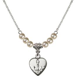 N21 Birthstone Necklace<br>Heart / Confirmation