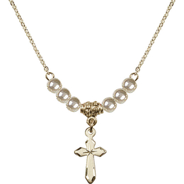 N21 Birthstone Necklace<br>Cross