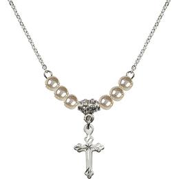 N21 Birthstone Necklace<br>Cross