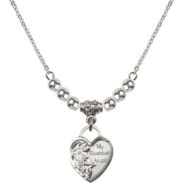 N22 Birthstone Necklace<br>Guardian Angel Heart