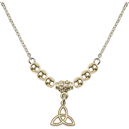 N22 Birthstone Necklace<br>Trinity Irish Knot