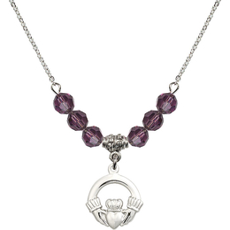 N30 Birthstone Necklace<br>Claddagh<br>Available in 15 Colors