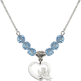 N30 Birthstone Necklace<br>Heart / Guardian Angel<br>Available in 15 Colors