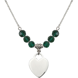 N30 Birthstone Necklace<br>Heart<br>Available in 15 Colors