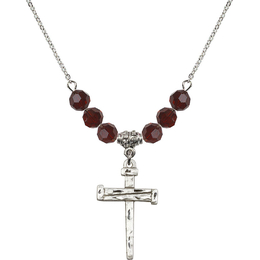 N30 Birthstone Necklace<br>Nail Cross<br>Available in 15 Colors