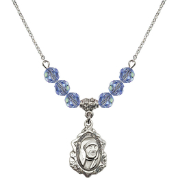 N30 Birthstone Necklace<br>St. Teresa of Calcutta<br>Available in 15 Colors