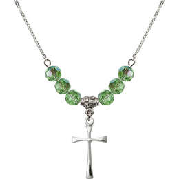 N30 Birthstone Necklace<br>Maltese Cross<br>Available in 15 Colors
