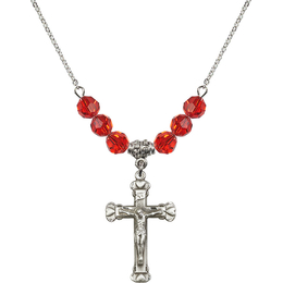 N30 Birthstone Necklace<br>Crucifix<br>Available in 15 Colors