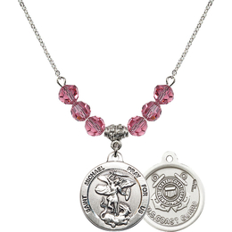 N30 Birthstone Necklace<br>St. Michael / Coast Guard<br>Available in 15 Colors