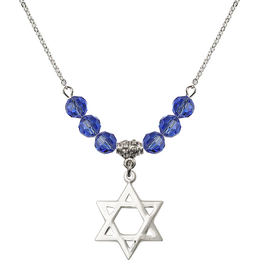 N30 Birthstone Necklace<br>Star of David<br>Available in 15 Colors