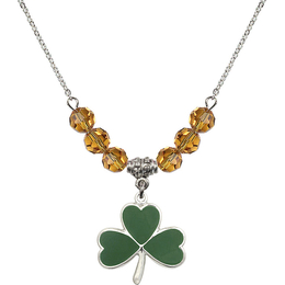 N30 Birthstone Necklace<br>Shamrock<br>Available in 15 Colors