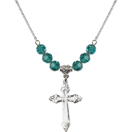 N30 Birthstone Necklace<br>Cross<br>Available in 15 Colors