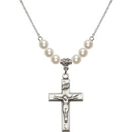 N31 Birthstone Necklace<br>Crucifix