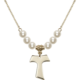 N31 Birthstone Necklace<br>Tau Cross