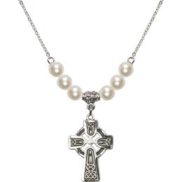 N31 Birthstone Necklace<br>Celtic Cross