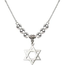 N32 Birthstone Necklace<br>Star of David