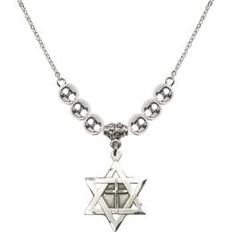 N32 Birthstone Necklace<br>Star of David w/ Cross