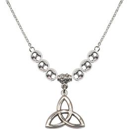 N32 Birthstone Necklace<br>Trinity Irish Knot