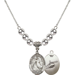 N32 Birthstone Necklace<br>St. Joseph of Cupertino/Helecopter