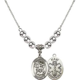 N32 Birthstone Necklace<br>St. Michael/1St Responder