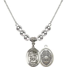 N32 Birthstone Necklace<br>St. Michael the Archangel/Policeman
