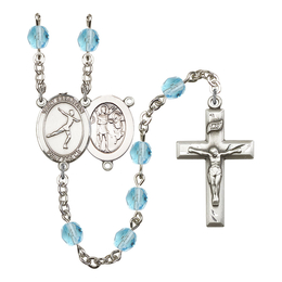 R6000 Series Rosary<br>St. Sebastian/Figure Skating<br>Available in 12 Colors